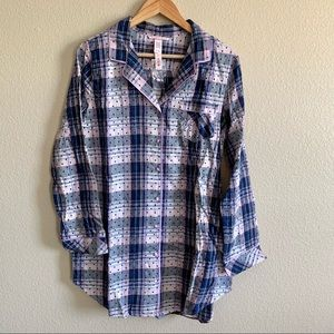 Victoria's Secret Plaid Polka Dot Sleepshirt NWT